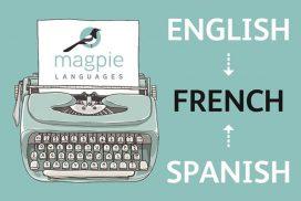 typewriter business card Magpie